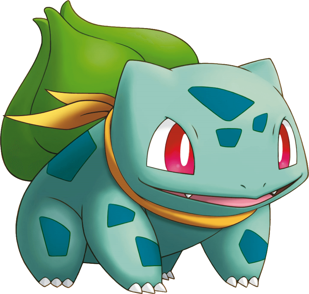 Pokemon background png. Bulbasaur transparent stickpng
