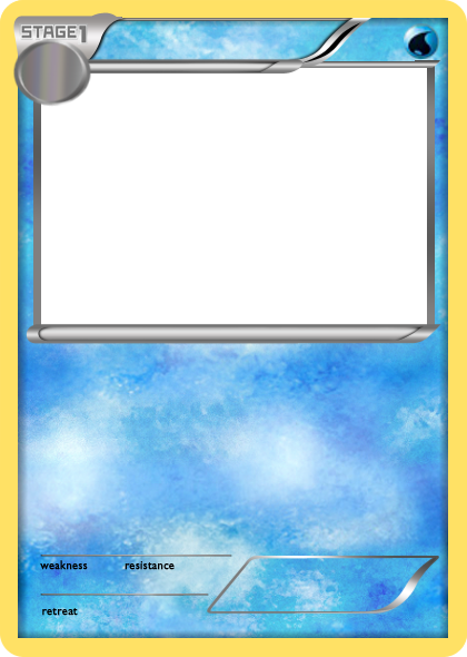 Pokemon card png. Blank fire cards crafts