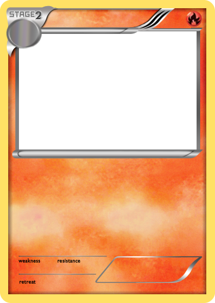 Pokemon card png. Blank fire cards bw