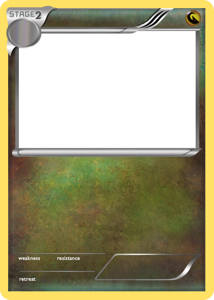 Pokemon card png. Bw dragon stage blank