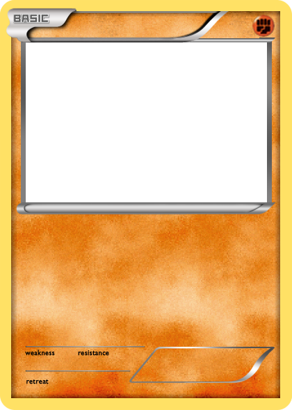 Pokemon card png. Bw fighting basic blank