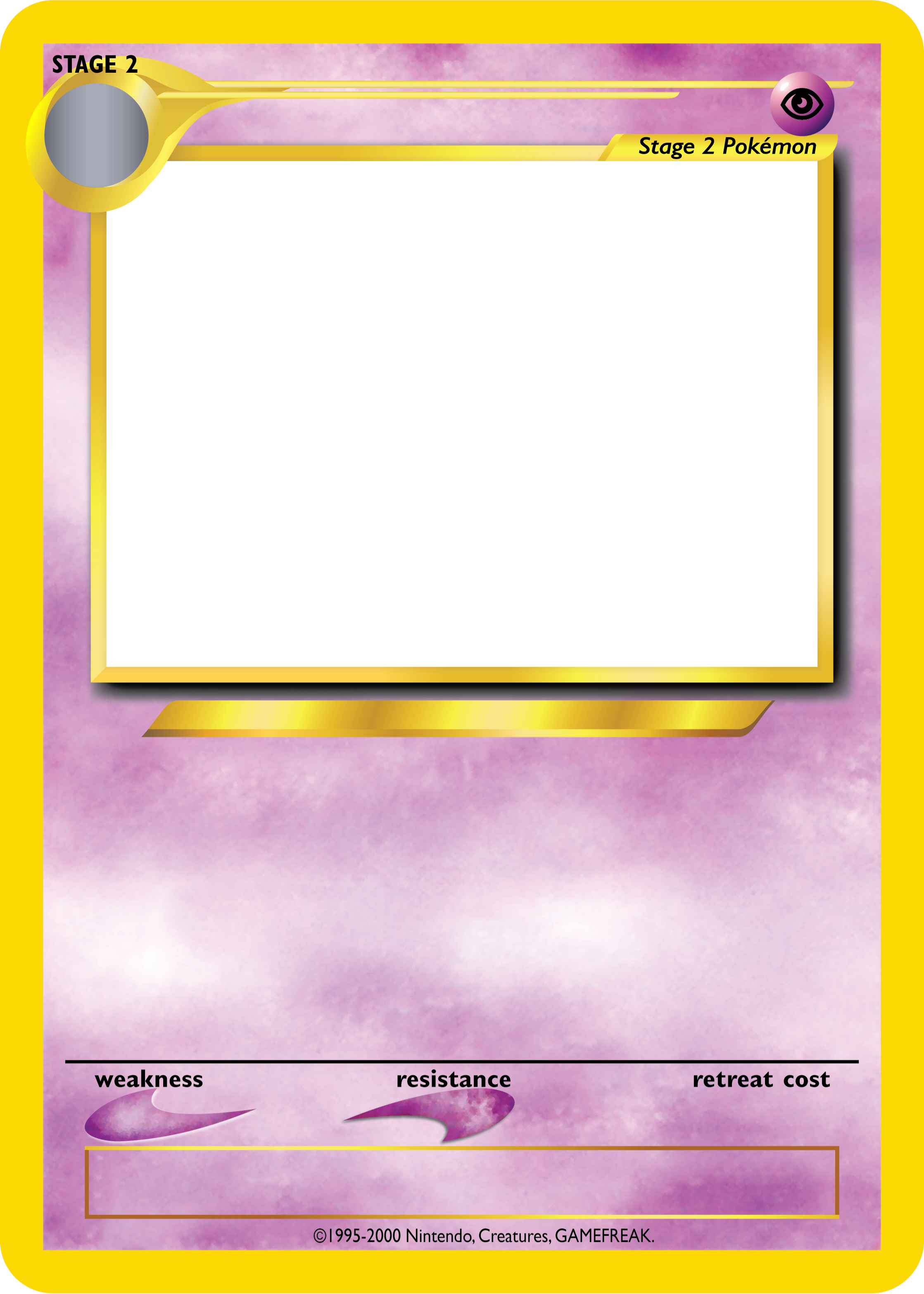 Pokemon card png. Tcg blanks neo jumbo