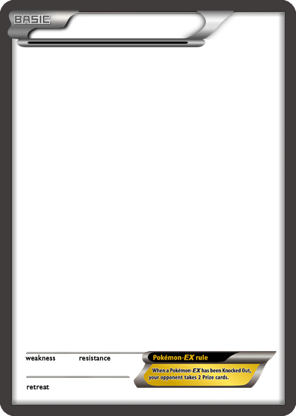 Pokemon card template png. Bw ex black blank
