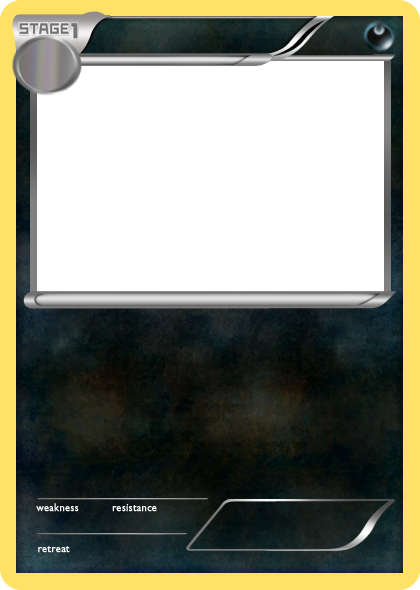 Pokemon card template png. Bw dark stage blank