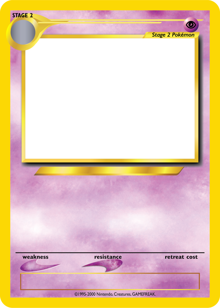 Pokemon card template png. Tcg blanks neo jumbo