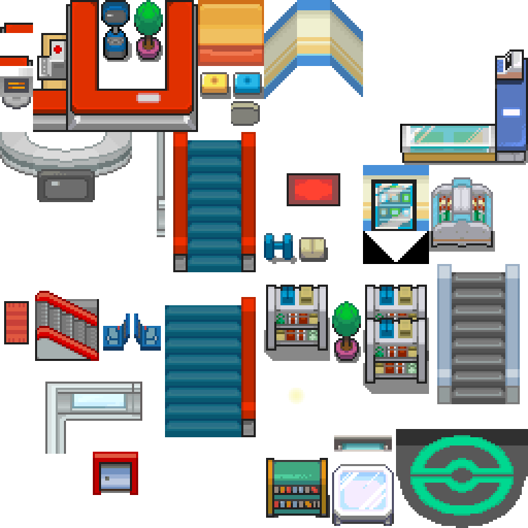 Pokemon center png. Hgss interior and mart