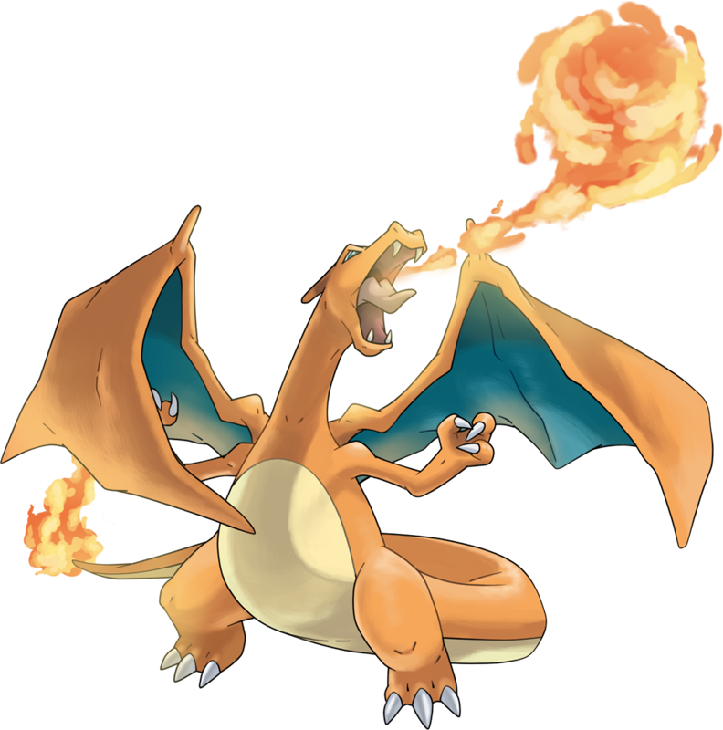 Pokemon charizard png. Pok dex stats moves