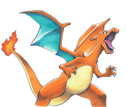 Blue s bulbapedia the. Charizard png banner black and white stock