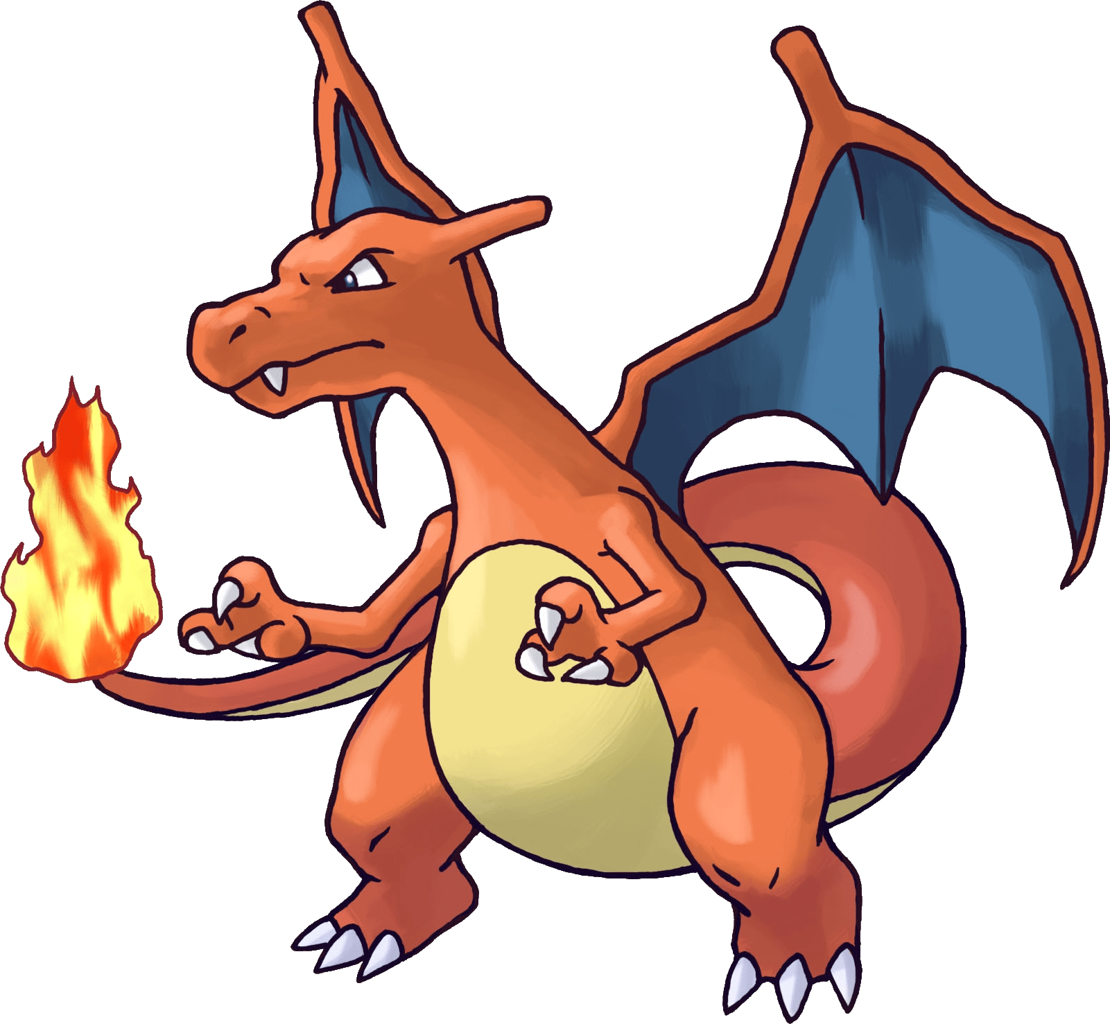 Pokemon transparent stickpng. Charizard png clipart black and white stock
