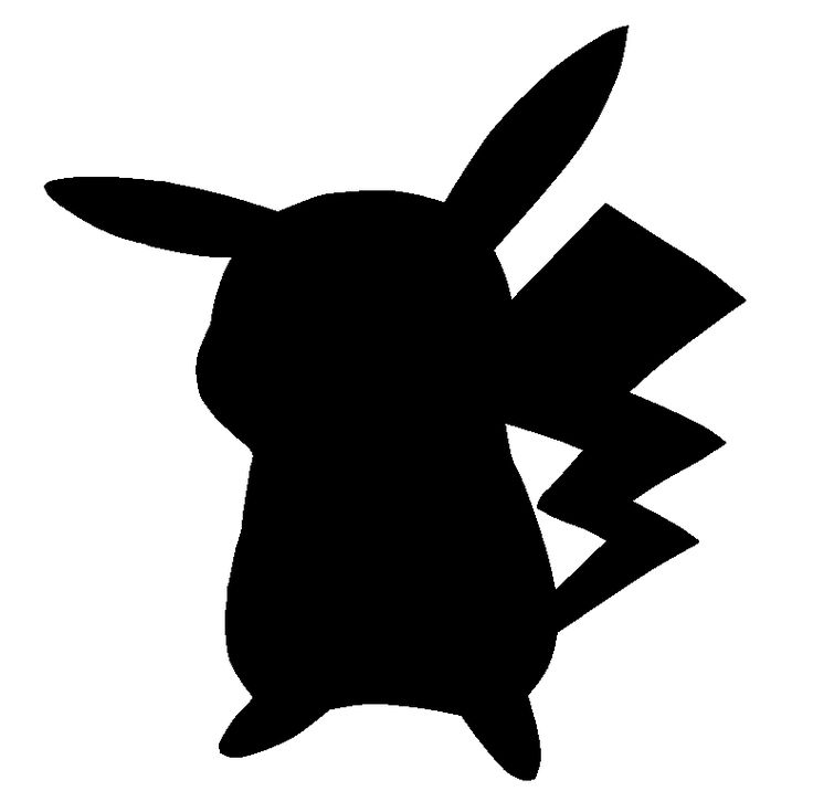 Pokemon clipart silhouette. Best images on