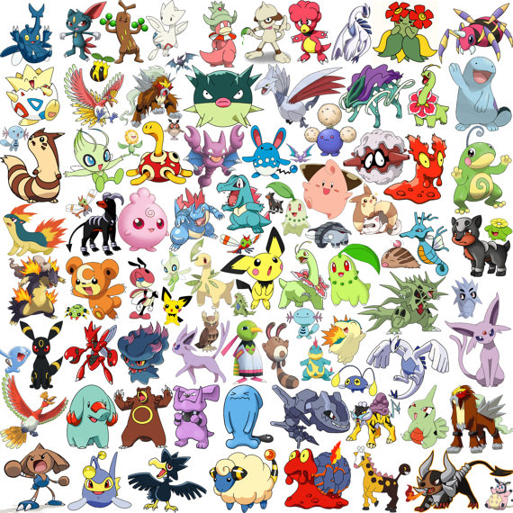 Pokemon clipart silhouette. Second generation and