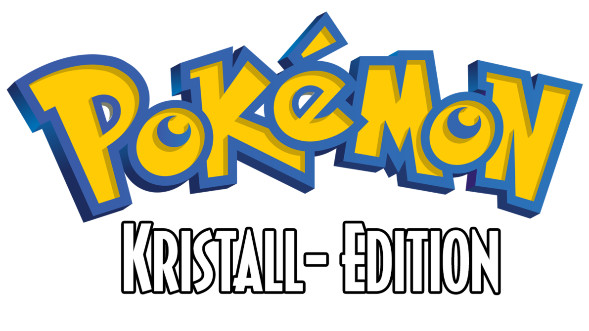 Pokemon crystal png. Logo kristall edition by