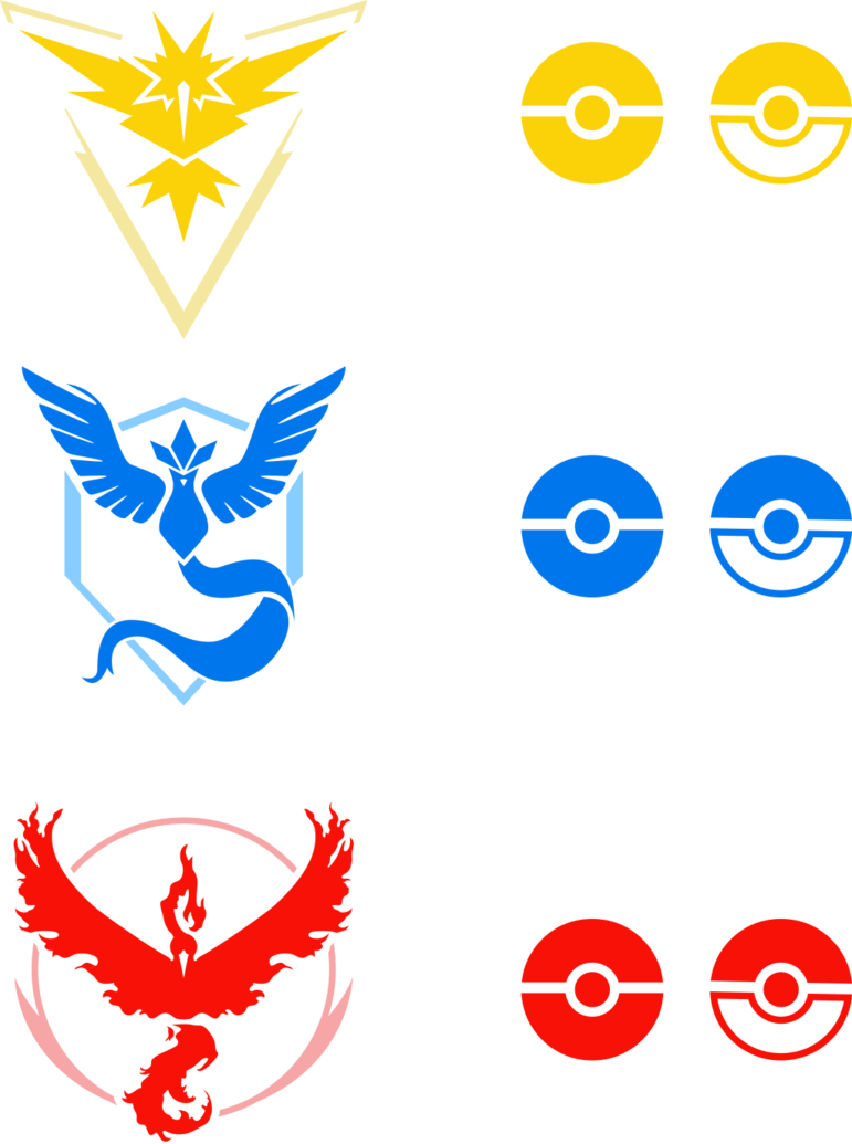 Go clip team. Pokemon logos by rariedash