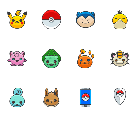 Pokemon icons png. Best icon packs