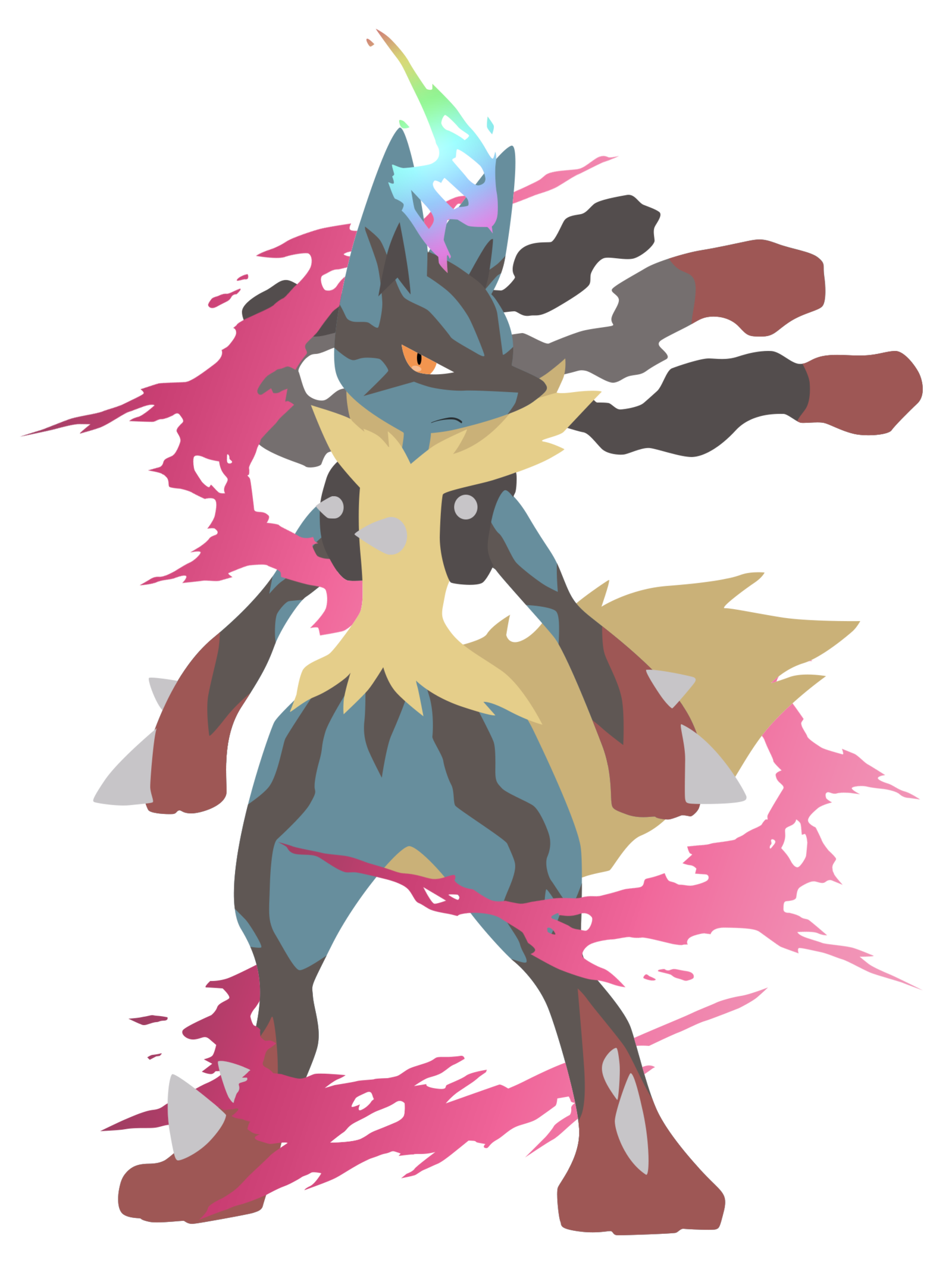 Charizard vector mega lucario. Pokemon by firedragonmatty