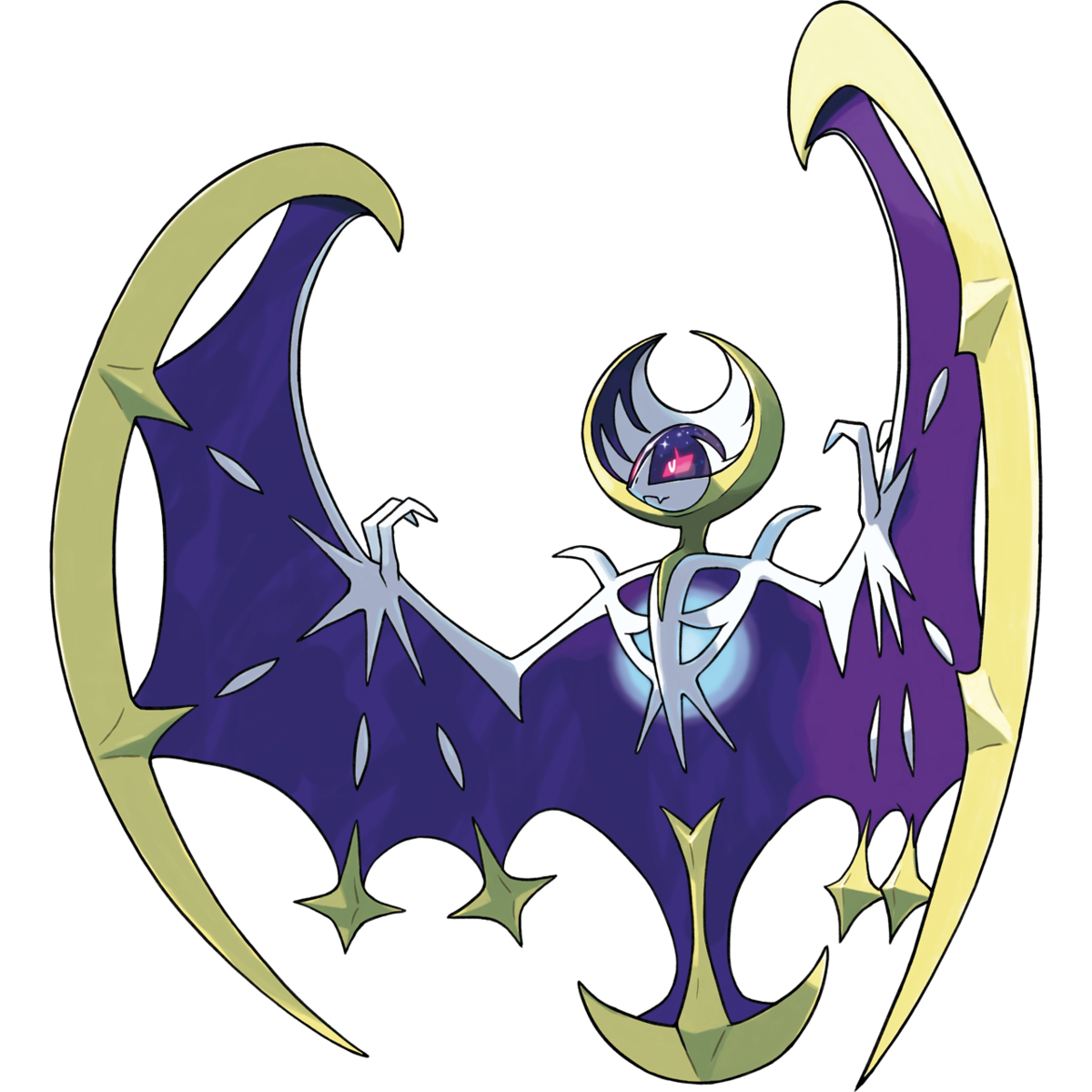 Pokemon moon png. Lunala pok mon bulbapedia