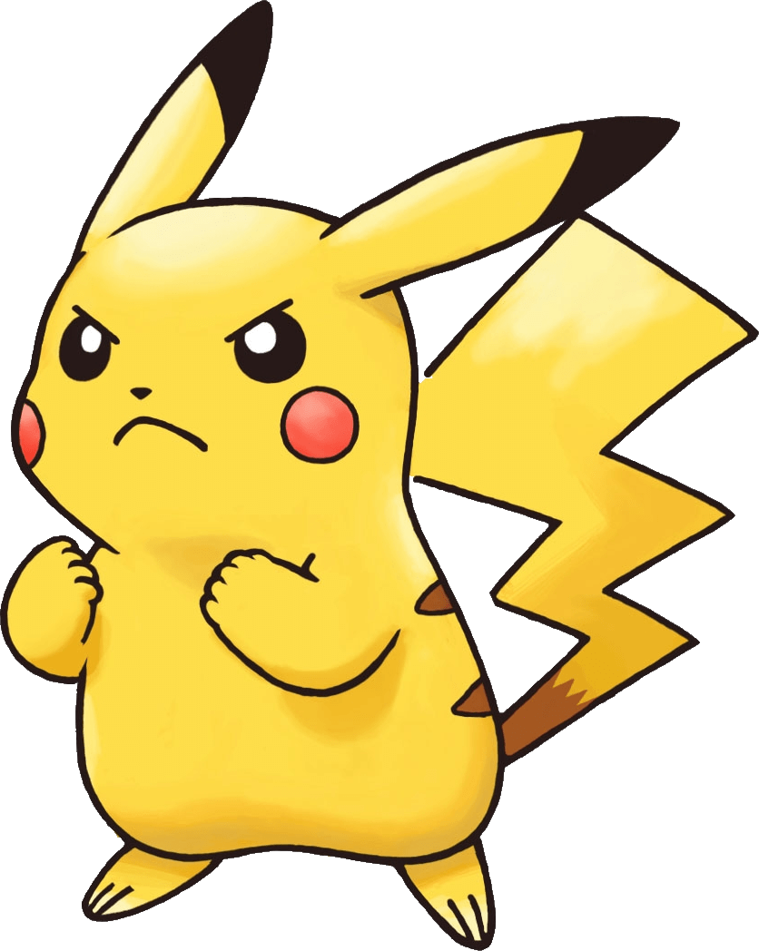 Pokemon pikachu png. Angry transparent stickpng