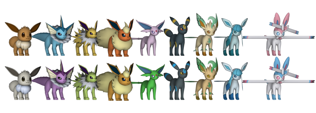 Pokemon png pack. X y eeveelution by