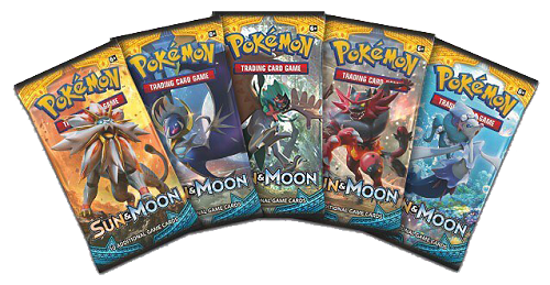 Pokemon png pack. Sun and moon booster