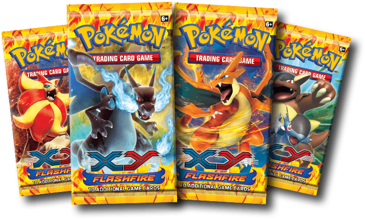 Pokemon png pack. Xy flashfire tcg booster