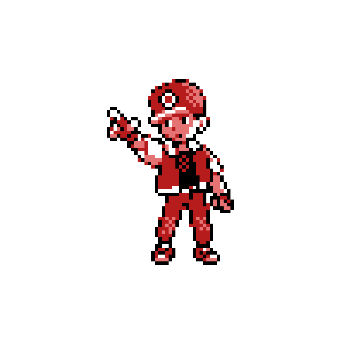 Pokemon red sprite png. Pixilart green gold and