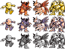 Pokemon red sprite png. Digimon devamp and blue