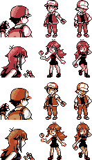 Pokemon red sprite png. And blue sprites for