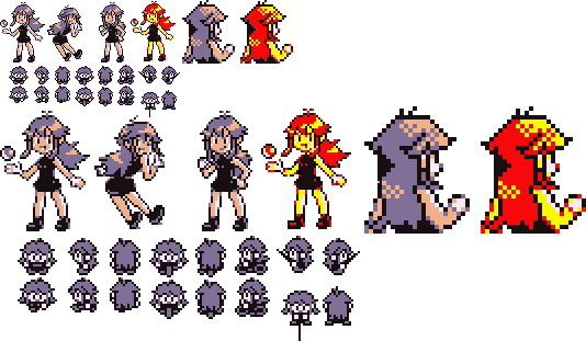 Pokemon red sprite png. Blue sprites for r