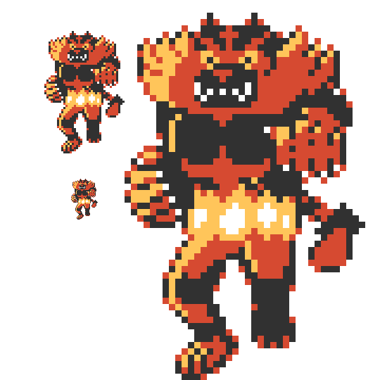 Incineroar is the next. Pokemon red sprite png png