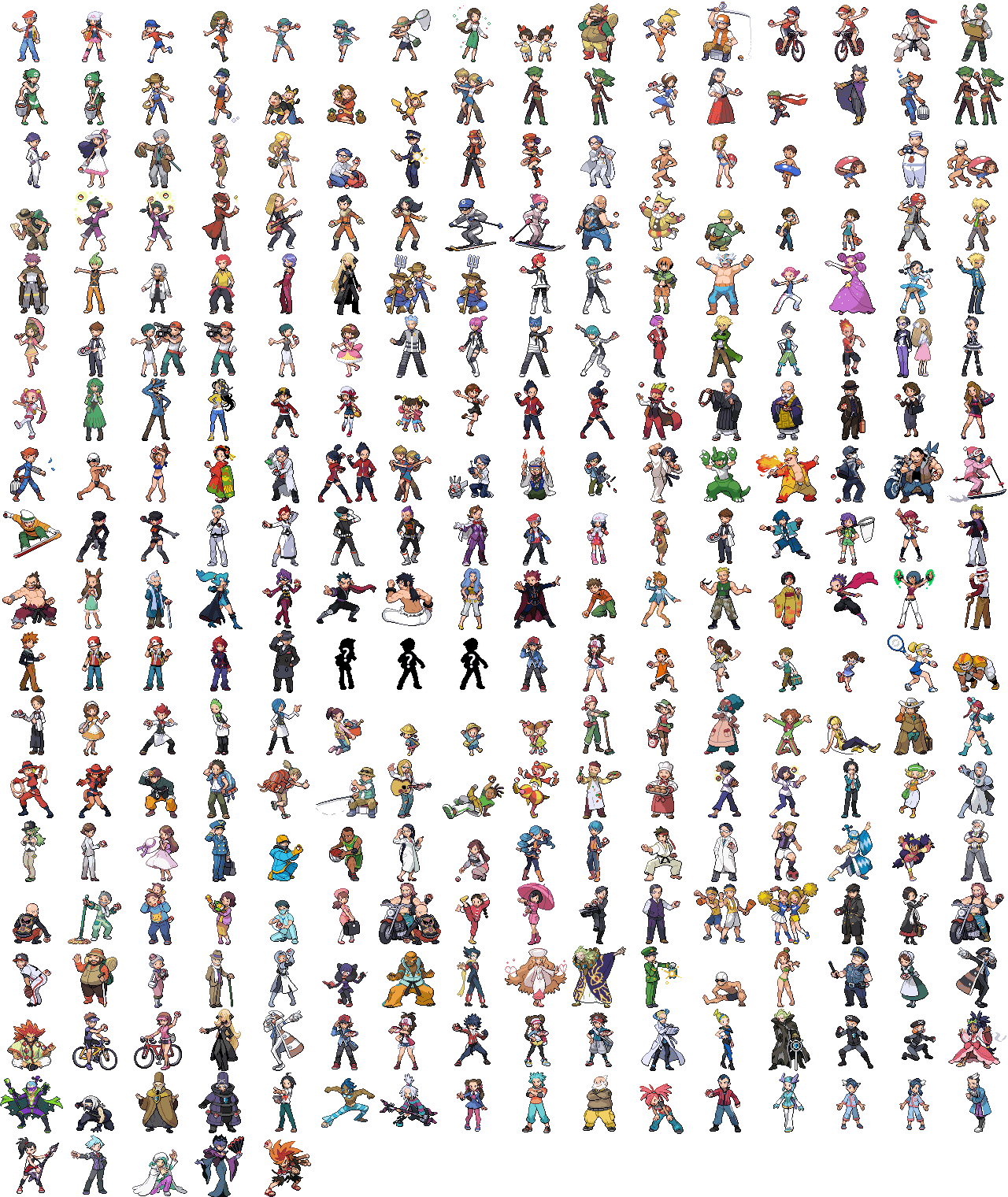 Pokemon sprite png. Index of sprites trainerssheetpng