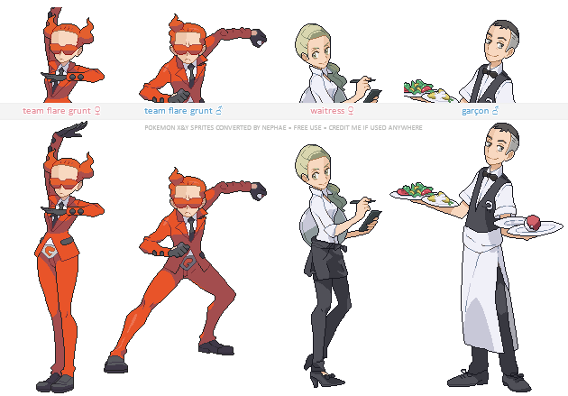 Pokemon sprite trainer png. Trainers x and y