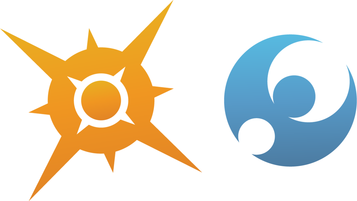 Pokemon sun png. And moon rendered logos