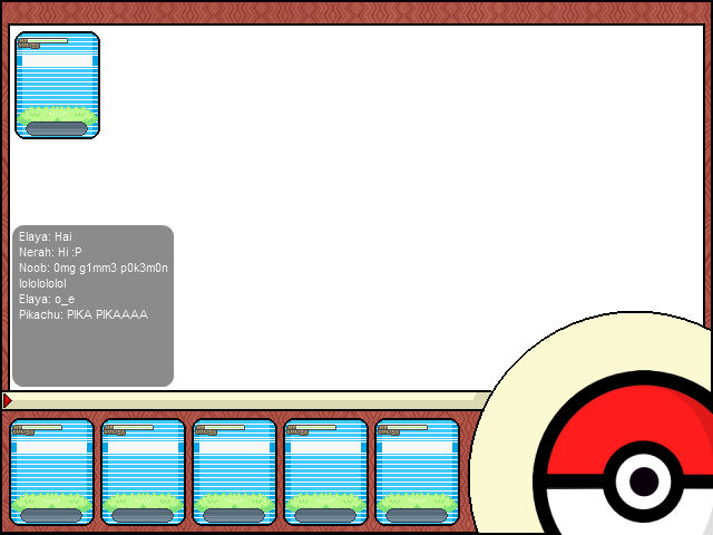 Pokemon text box png. Eoserv forum artists red