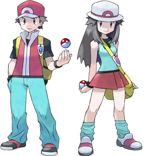 Pokemon trainer red png. Image kanto and leaf