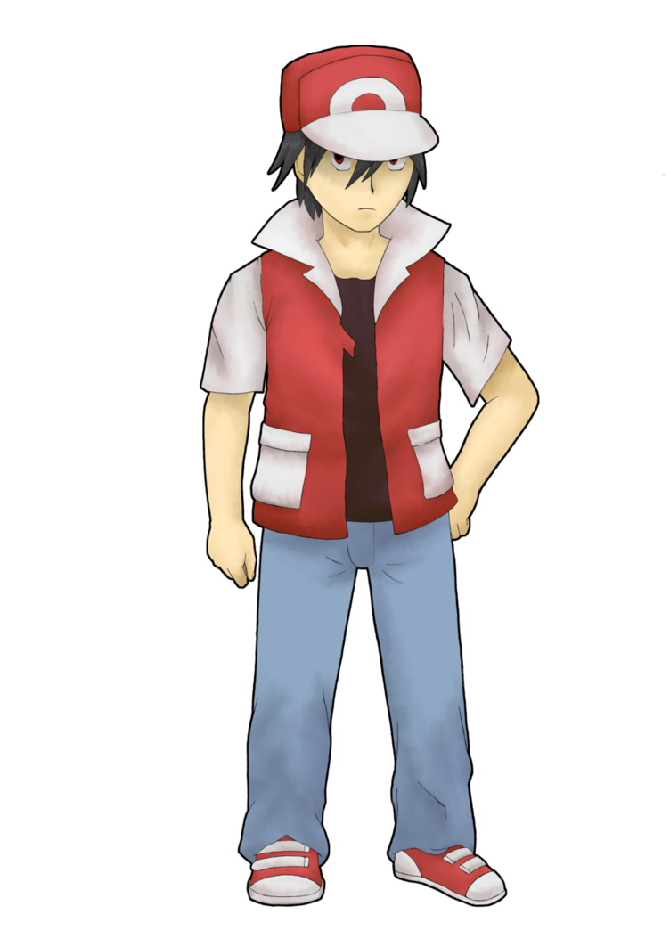 Pokemon trainer red png. Rebirth by ainfinity on