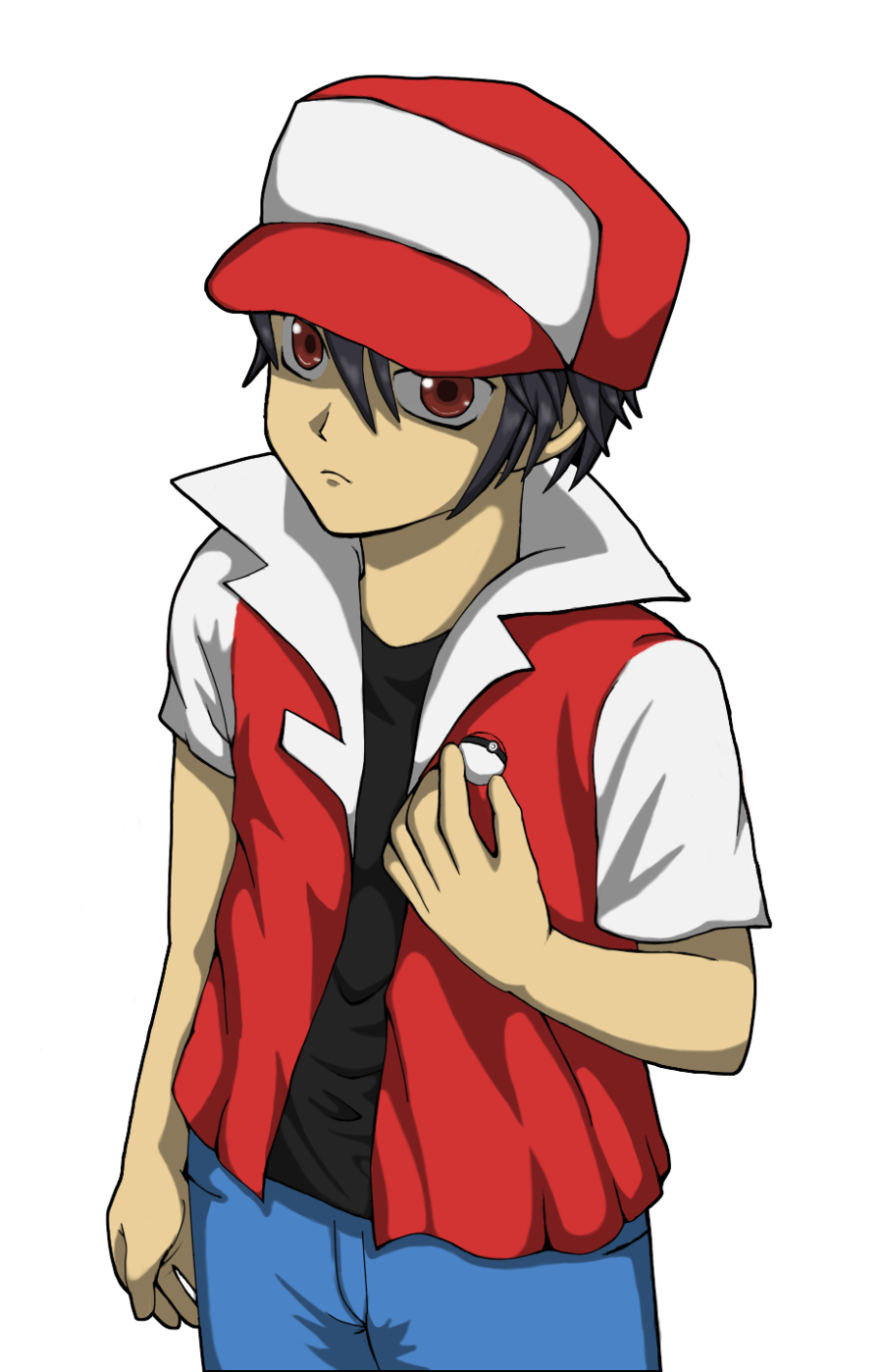 Pokemon trainer red png. Classic by ainfinity on