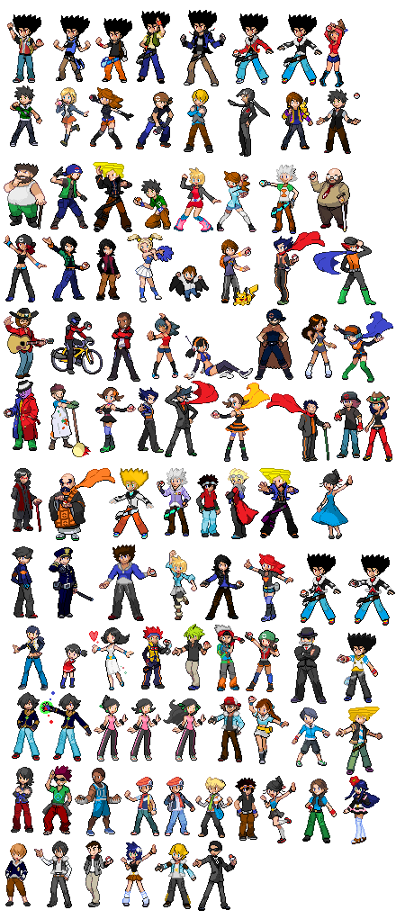 Pokemon trainer sprites png. Doubled colorado s sprite vector library download