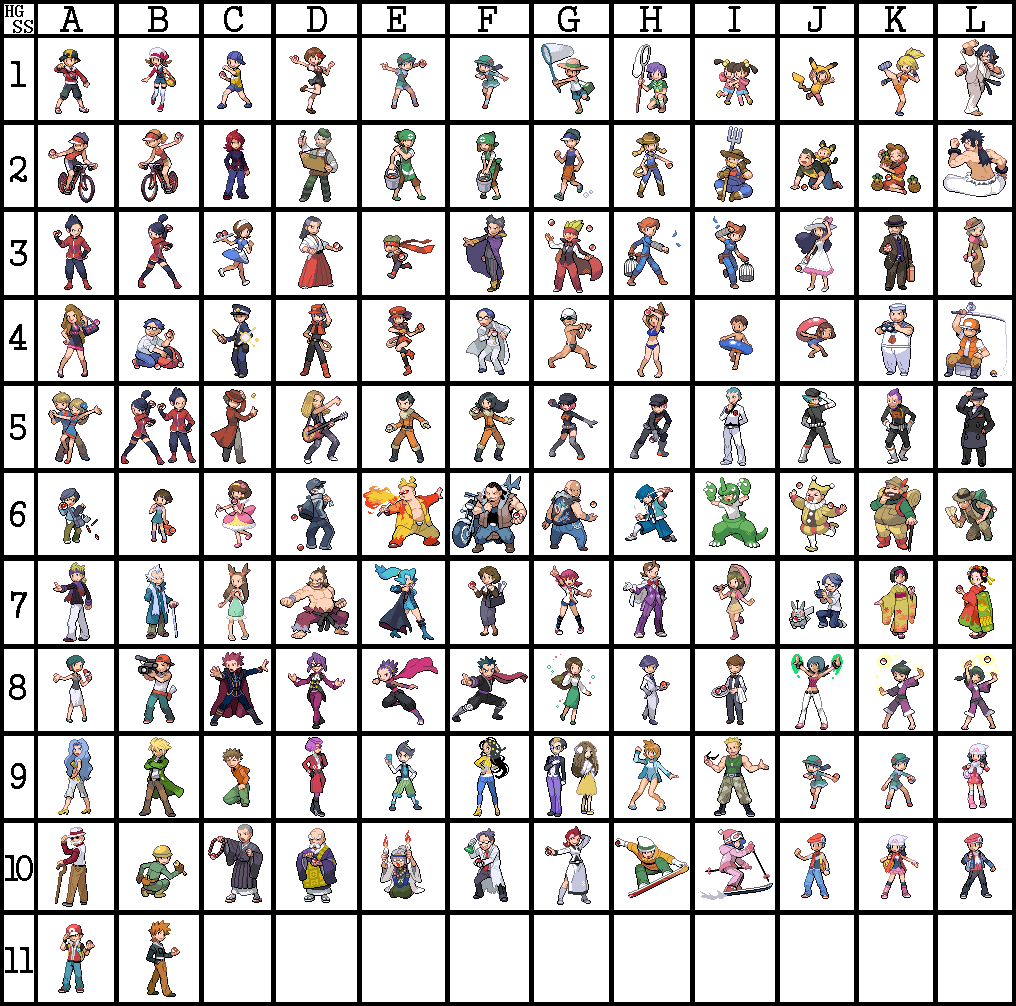 Pokemon trainer sprites png. Usako s home for