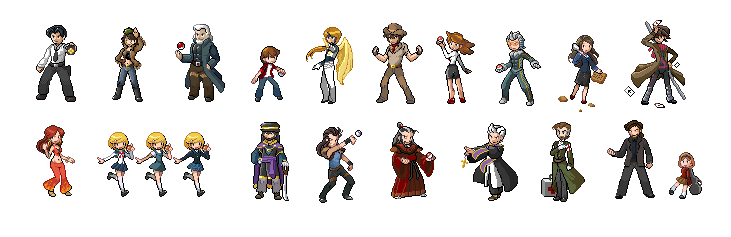 Pokemon trainer sprites png. My attempts at pixel