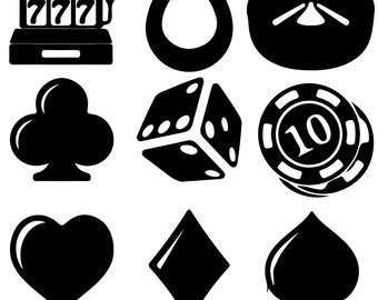 Poker clipart black and white. Vegas free clip art