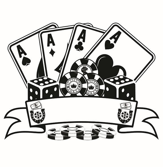 Poker clipart texas holdem. Logo chips four aces