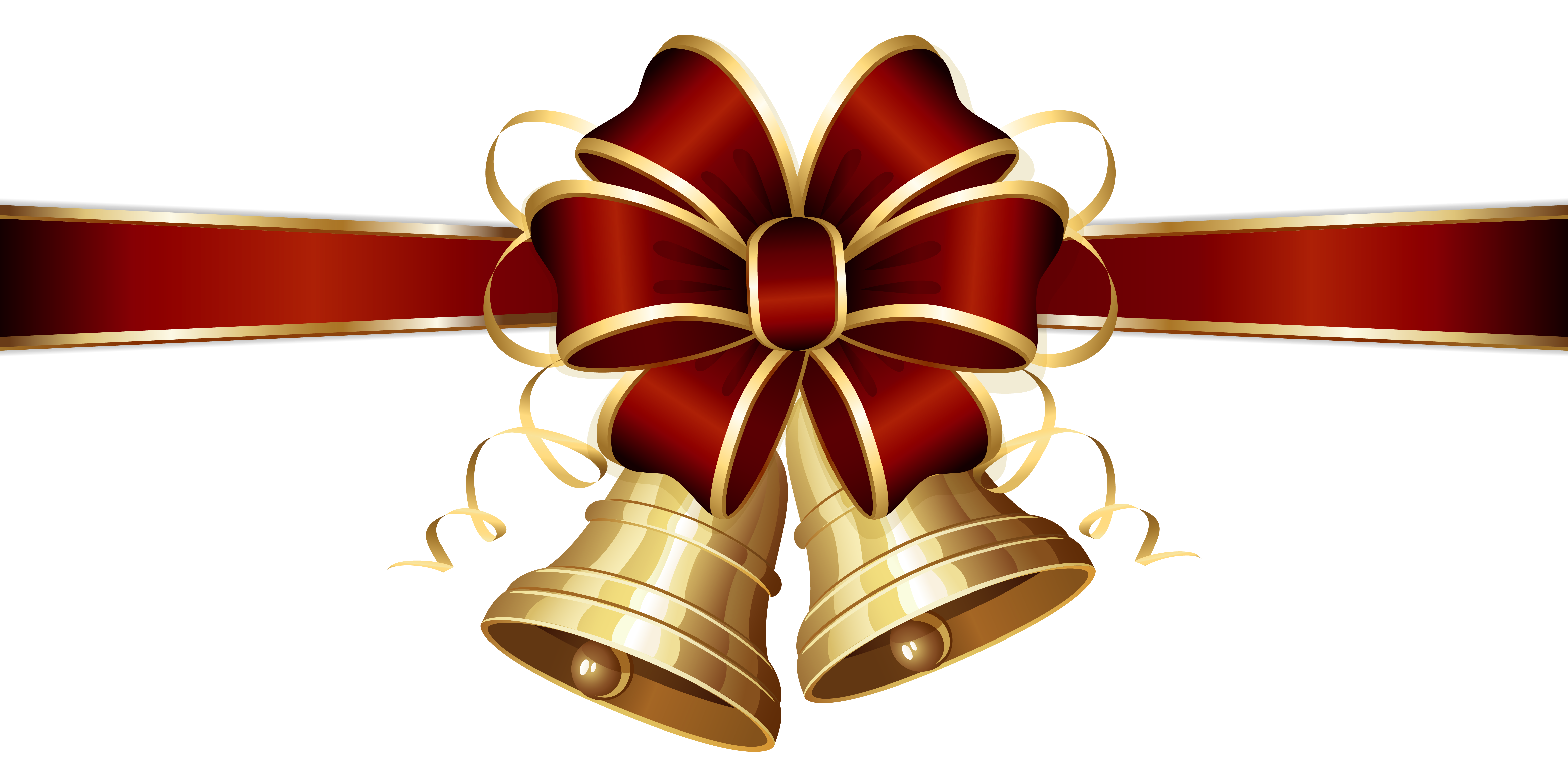Christmas ribbon border png. Collection of bell