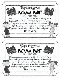 Polar express clipart day. Drive in movie pajama