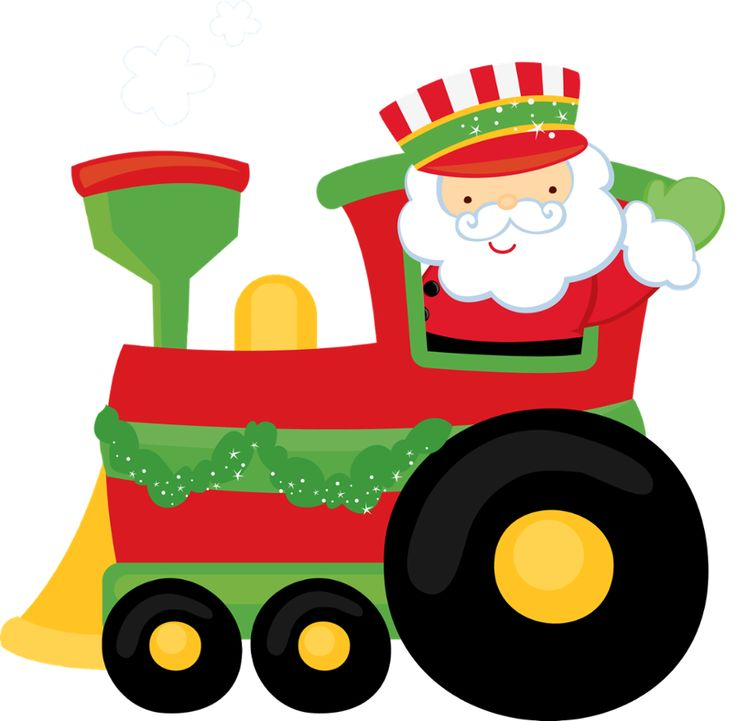 Polar express clipart holiday train. Group with mrs claus