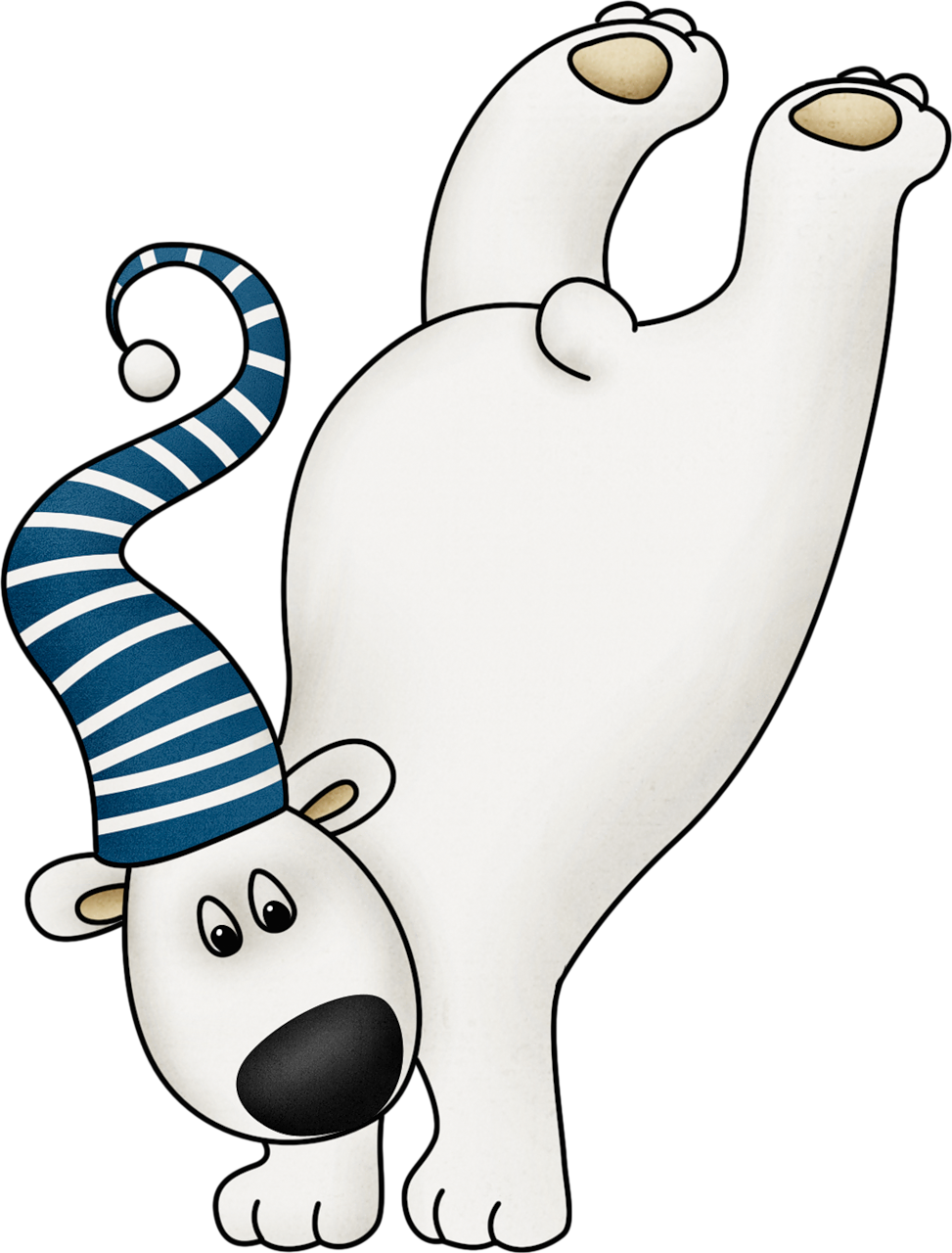 Polar express clipart line drawing. Cute winter bear clip