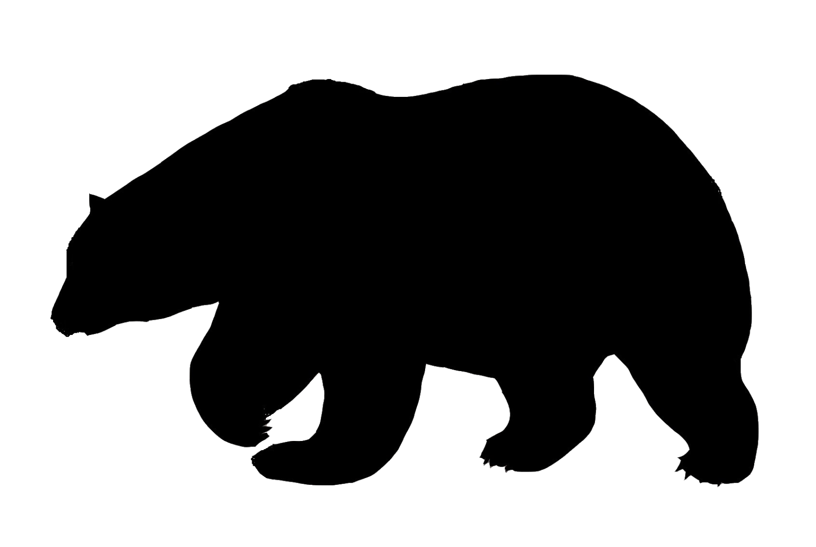Bear clip silhouette. Polar art at getdrawings