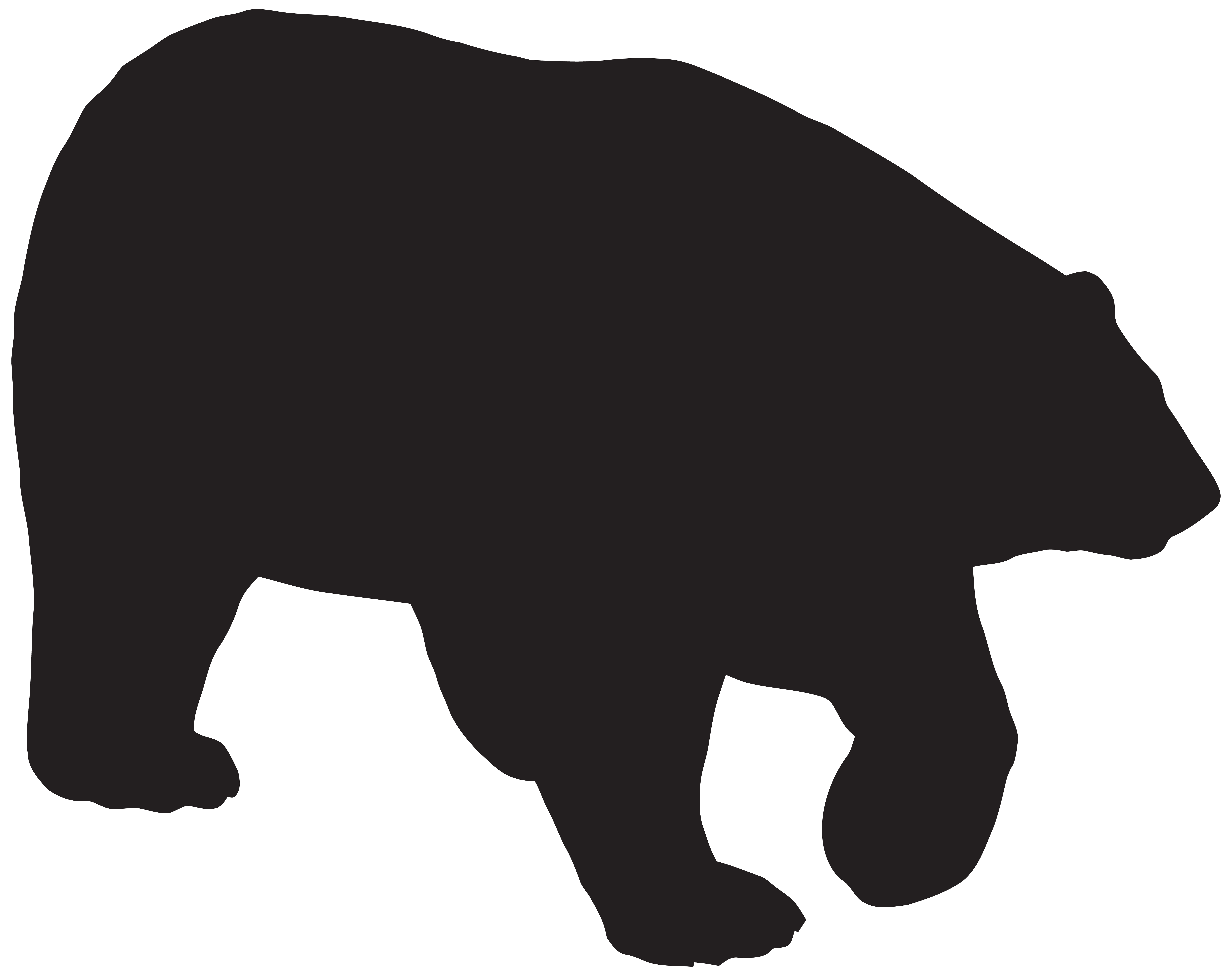 bear silhouette png