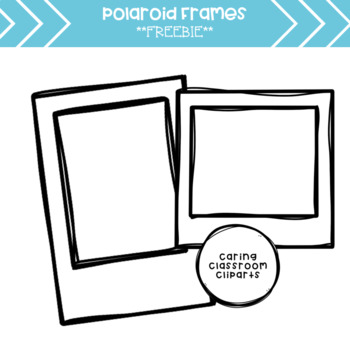Polaroid clipart. Frames freebie by caring