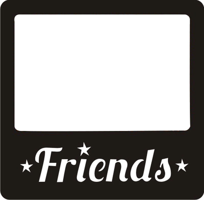 Polaroid clipart black square frame. Ish friends personalized photo