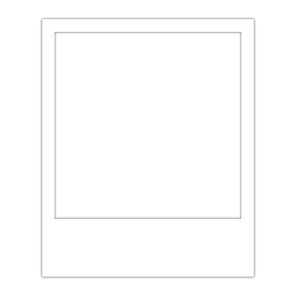 polaroid clipart black square frame